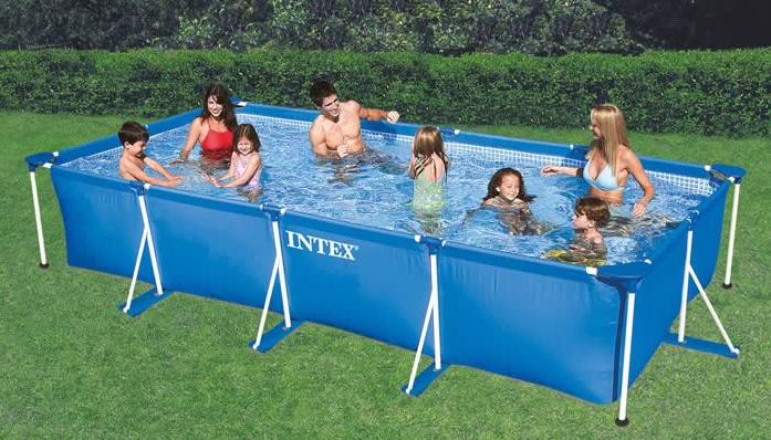 Rf1590 intex 450cm 220cm 85cm - Pool rechteckig ...